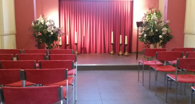 De kapel op RK begraafplaats St. Barbara in Hilversum